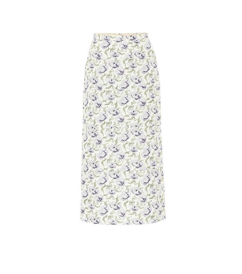 Brock Collection Rapa floral cotton-blend midi skirt in purple