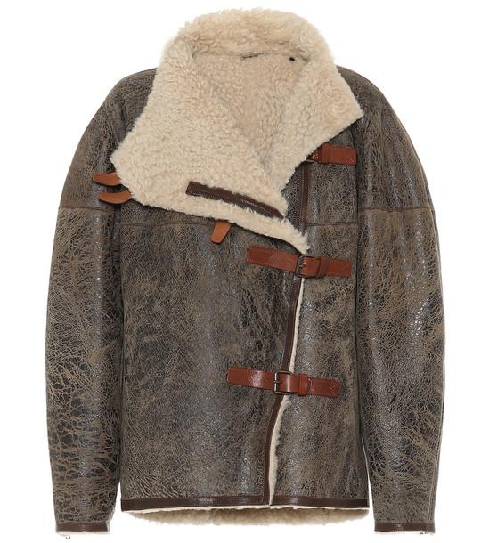 Isabel Marant Shearling jacket in brown