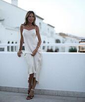 dress,slip dress,maxi dress,sandal heels