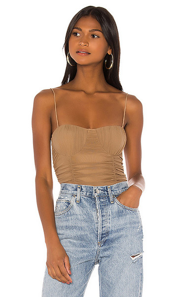 Lovers + Friends Lovers + Friends Albany Bodysuit in Taupe