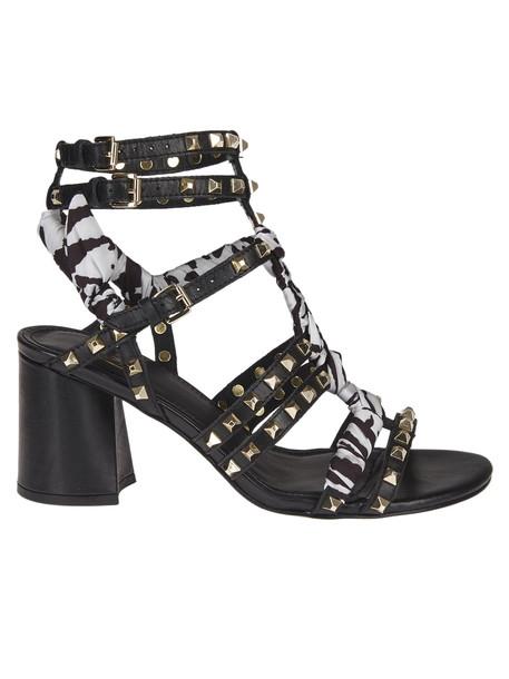 Ash Rockstud Sandals in black