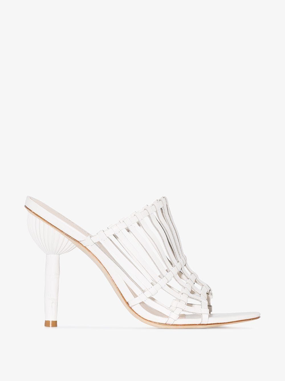 Cult Gaia TBC 100 caged high heel sandals in white