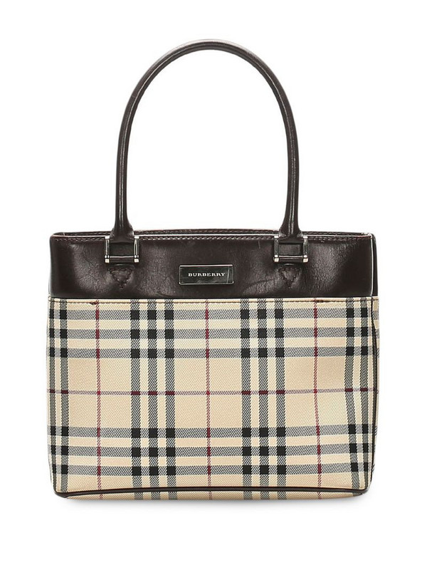 Burberry Pre-Owned House check tote bag in neutrals