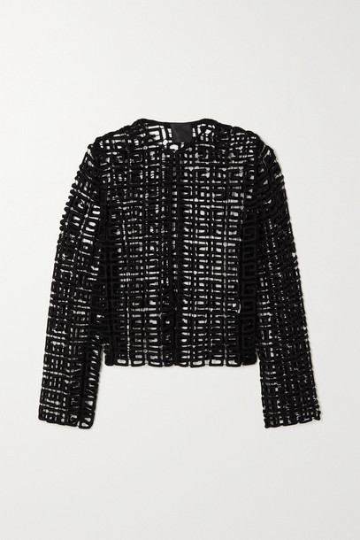 Givenchy - Wool-blend Guipure Lace Jacket - Black