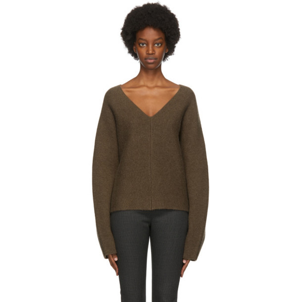 Toteme Brown Cashmere Rennes Sweater