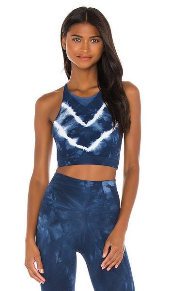 Electric & Rose Grayson Crop Bra in Blue in indigo