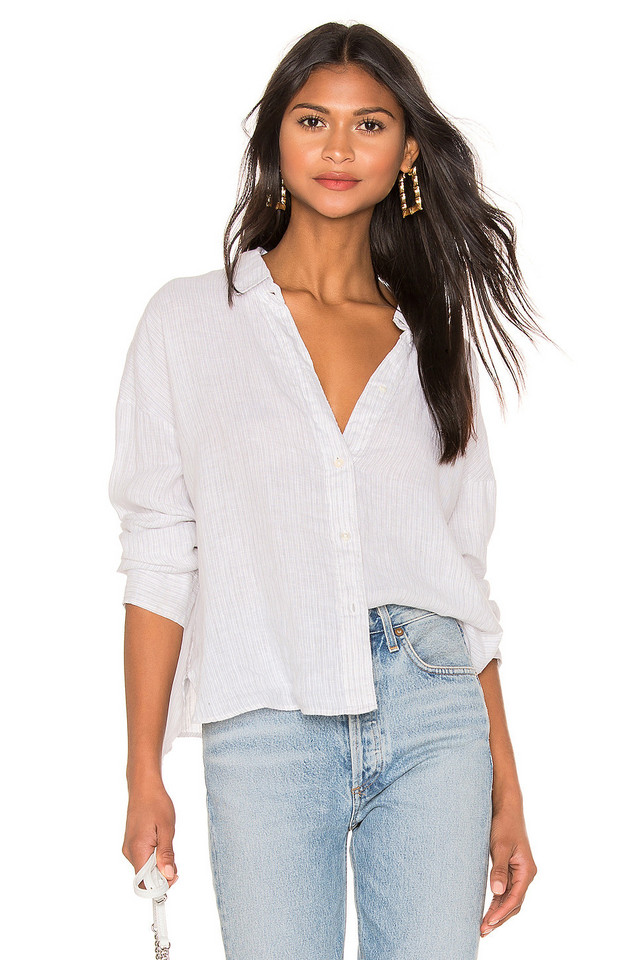 James Perse Relaxed Drape Shirt in white