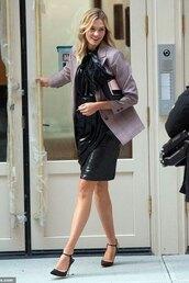 jacket,blazer,karlie kloss,work outfits,model off-duty