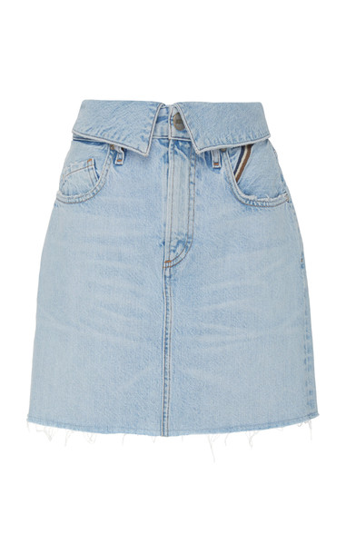 Jean Atelier Flip High-Rise Denim Mini Skirt Size: 31