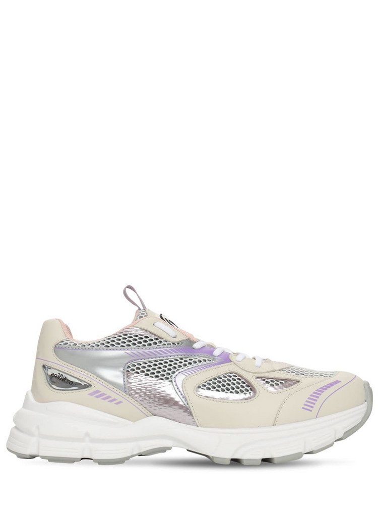 AXEL ARIGATO 30mm Marathon Leather & Mesh Sneakers in white / beige