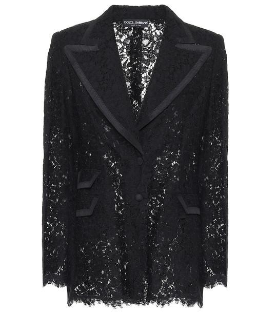 Dolce & Gabbana Lace blazer in black
