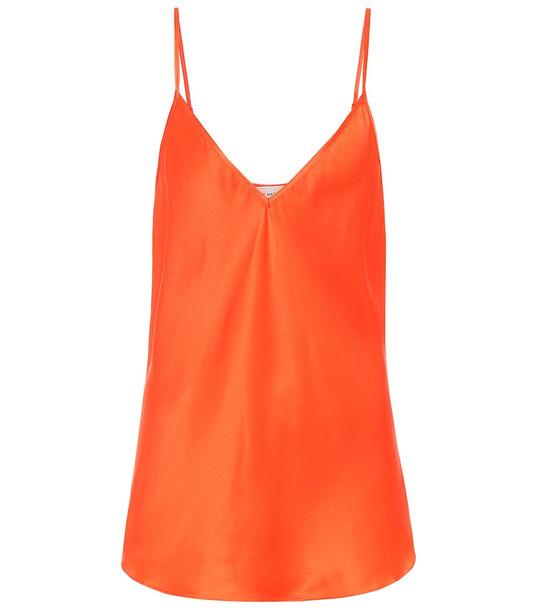 Lee Mathews Exclusive to Mytheresa – Stella silk-satin camisole in orange