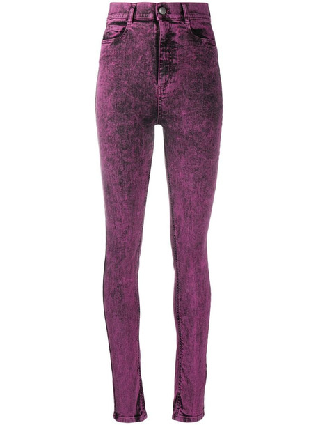 RedValentino acid-wash high-rise jeans in purple