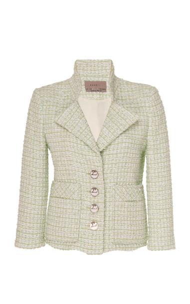 SOONIL Uve Tweed Jacket Size: 0 in blue