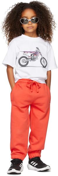 032c Kids Motorcycle T-Shirt in white