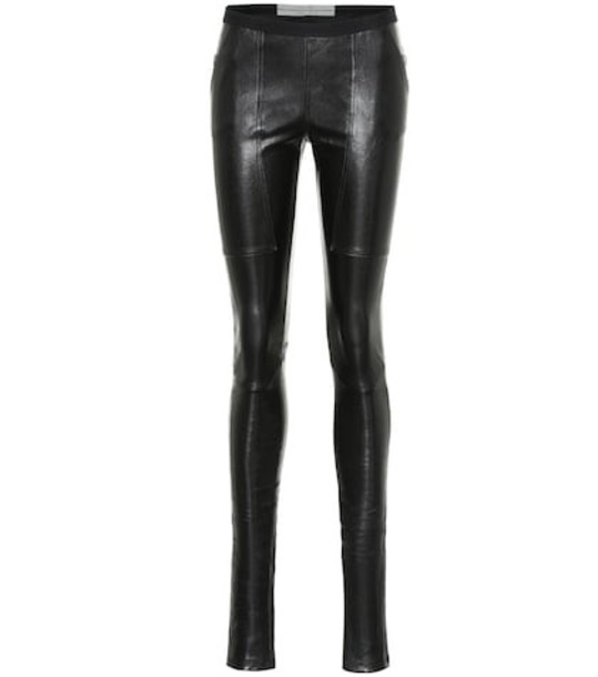 Rick Owens Easy Nagakin leather leggings in black
