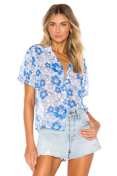 All Things Mochi Nora Shirt in blue