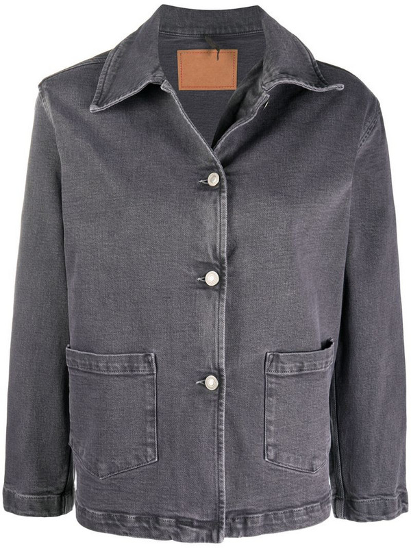 Jeanerica long-sleeved boxy fit jacket in grey