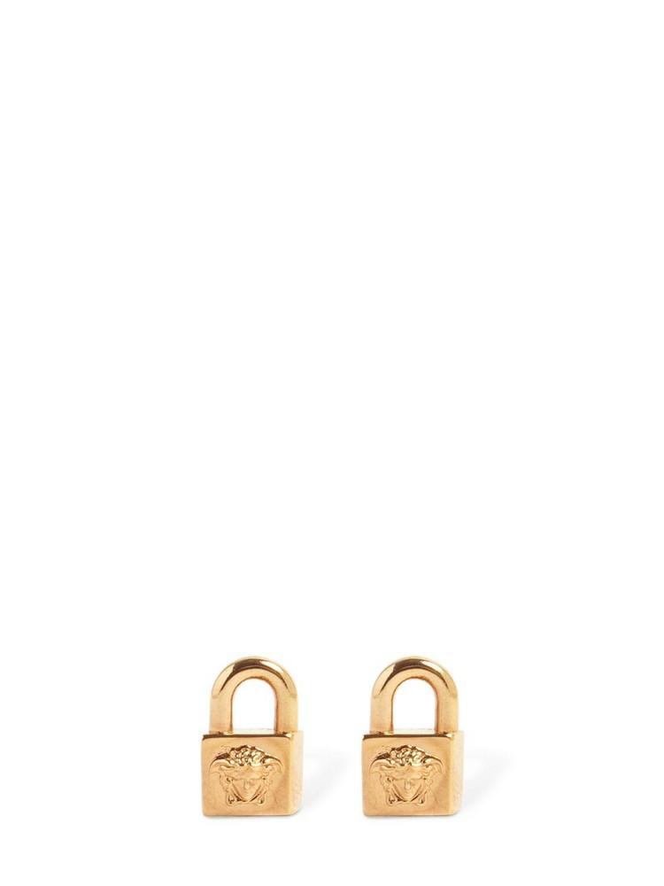 VERSACE Small Medusa Padlock Earrings in gold