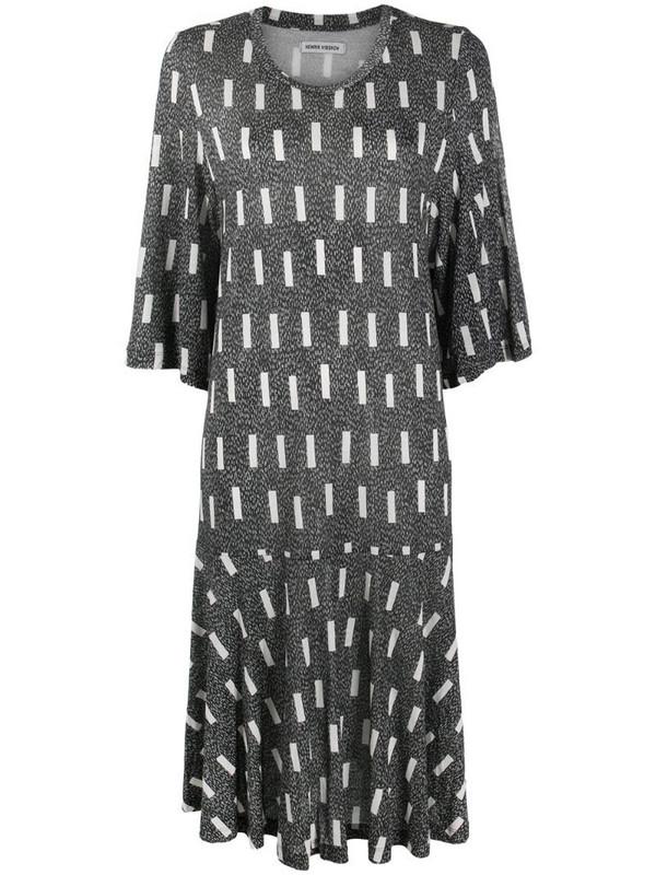 Henrik Vibskov patterned shift dress in black