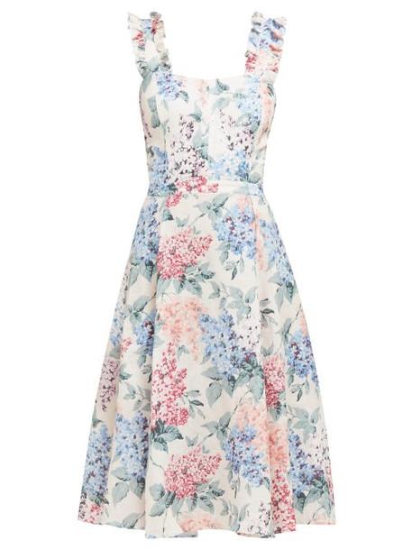 Ephemera - Bloom Floral Print Cotton Dress - Womens - Blue Print