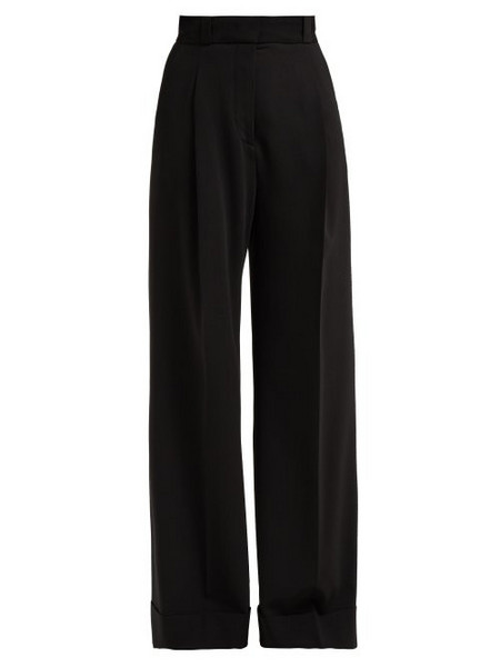 See By Chloé See By Chloé - High Rise Tailored Crepe Trousers - Womens - Black