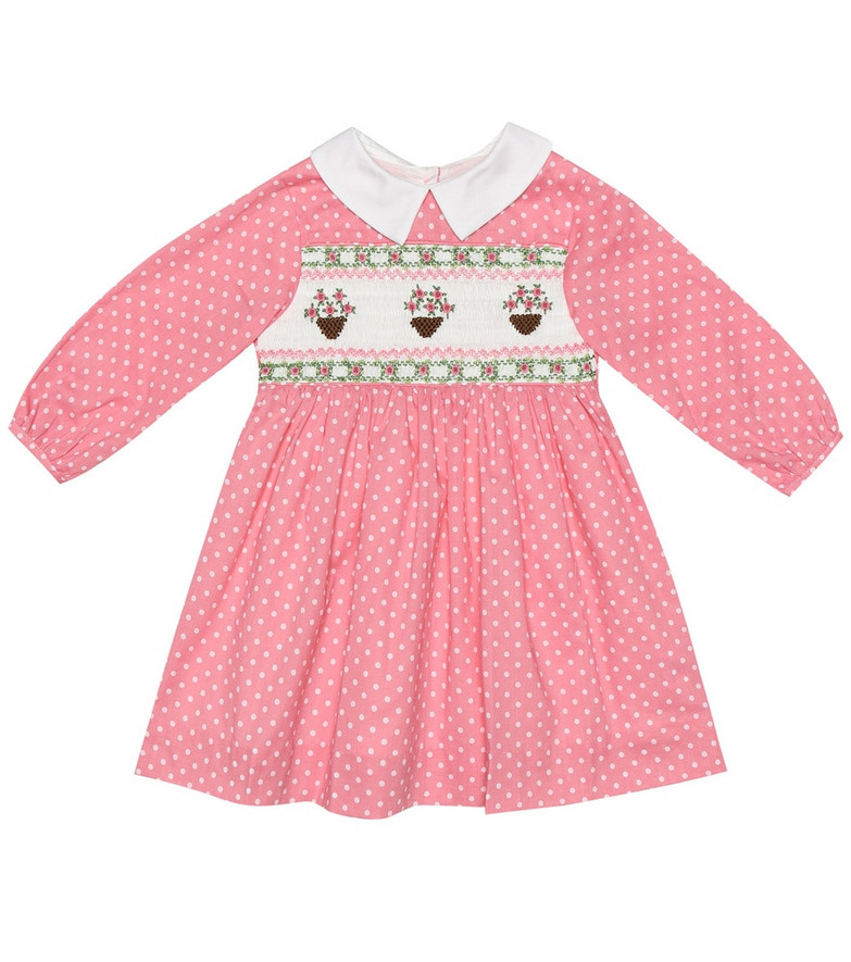 Rachel Riley Baby cotton dress and bloomers set in pink