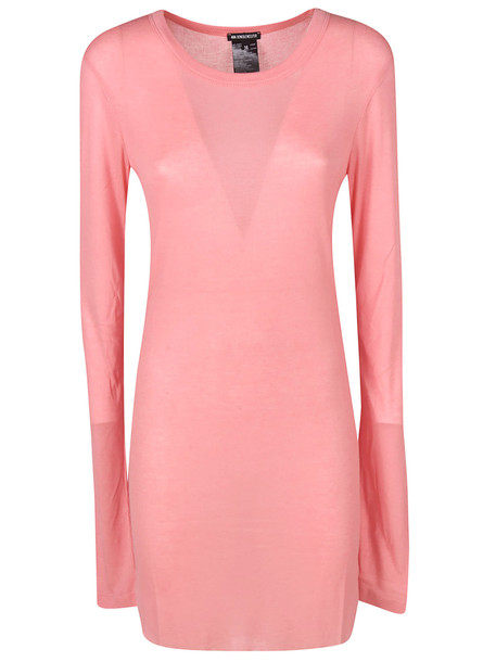Ann Demeulemeester Long-sleeved Round Neck Dress in pink
