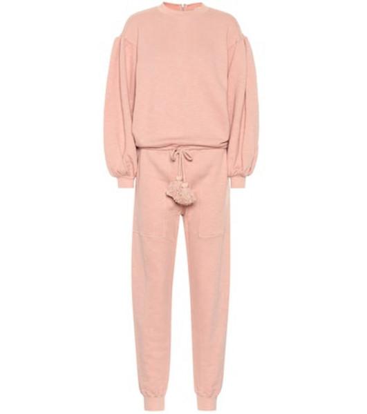 Ulla Johnson Damara cotton fleece jumpsuit in pink
