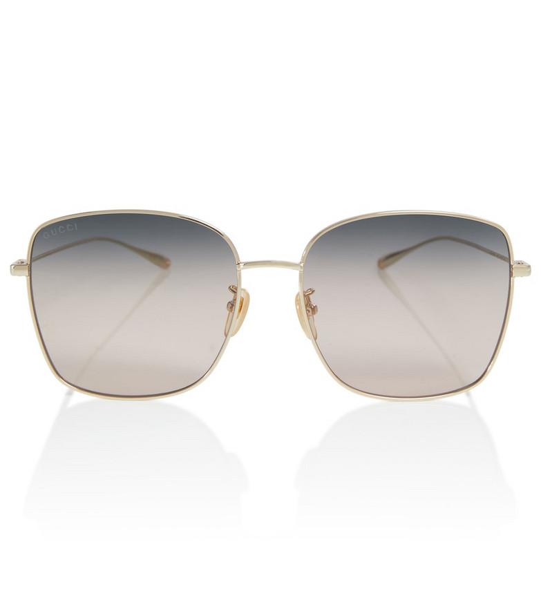 Gucci Square chain sunglasses in pink