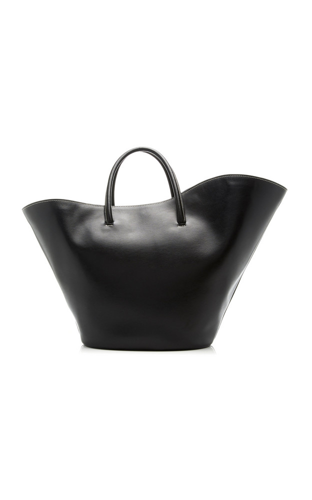 Little Liffner Tulip Leather Tote in black