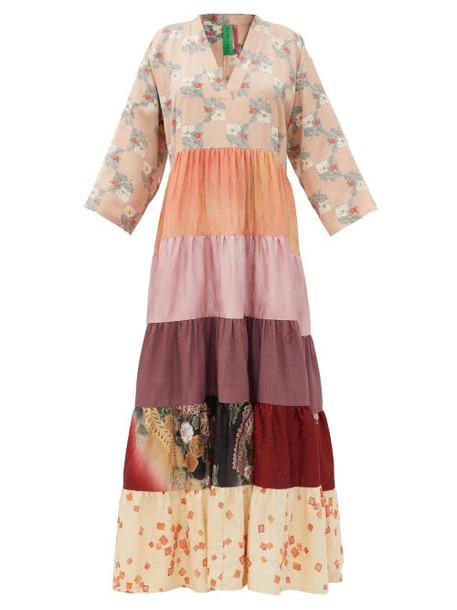 Rianna + Nina Rianna + Nina - Vintage Silk-satin Dress - Womens - Multi