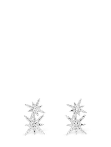 APM MONACO Double Meteorites Stud Earrings in silver