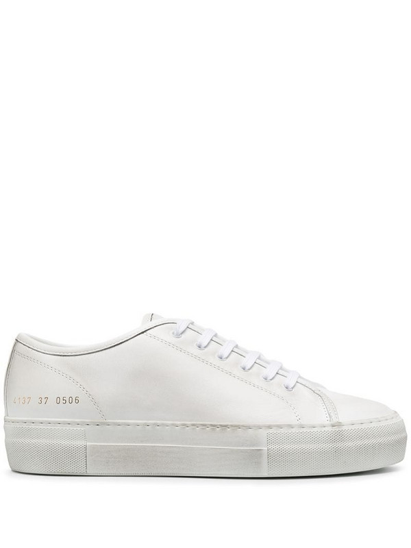 Common Projects low lace-up sneakers in white