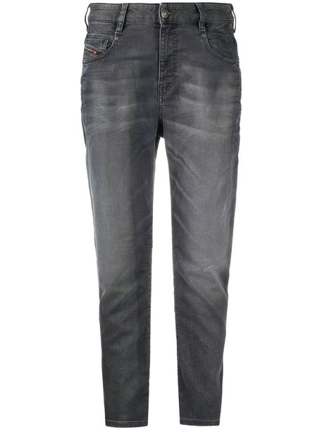 Diesel high-rise tapered jeans in grey