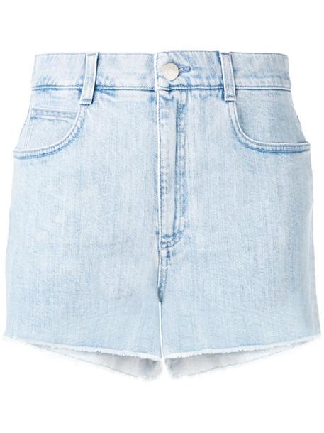 Stella McCartney All is Love denim shorts in blue