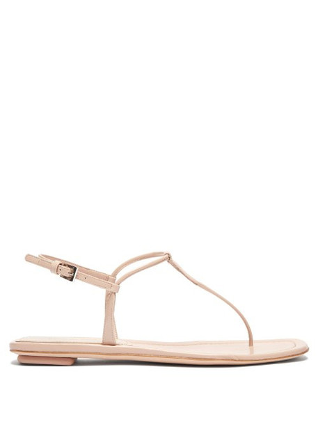 Prada - Patent Leather Slingback Sandals - Womens - Nude