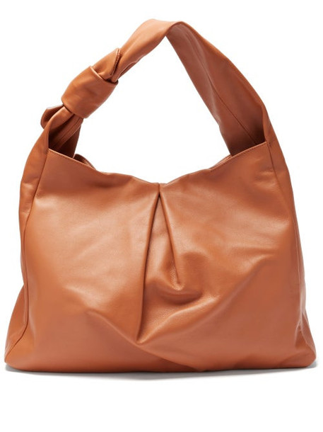 Staud - Island Large Knotted Leather Tote Bag - Womens - Tan