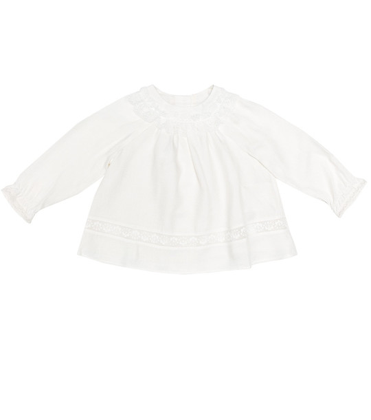 Tartine et Chocolat Baby wool-blend top in white