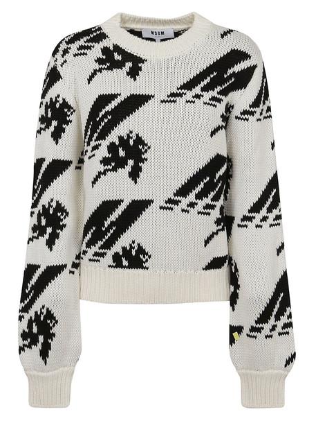 MSGM Sweater in black / white