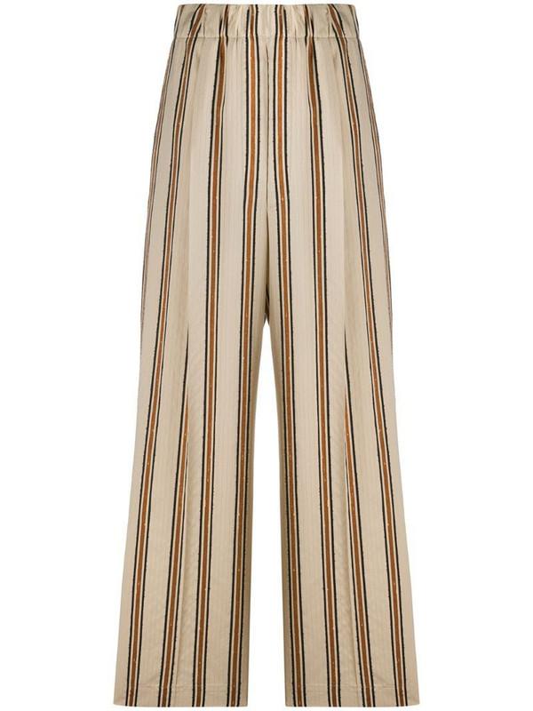 Jejia striped print palazzo trousers in neutrals