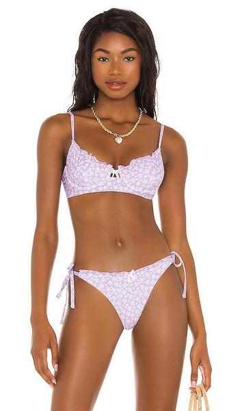 B. Swim x Elizabeth Turner Elizabeth Bikini Top in Lavender in lilac