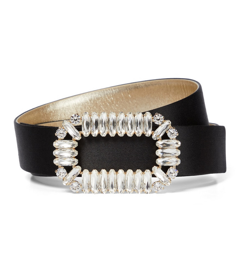 Roger Vivier Silk satin belt in black