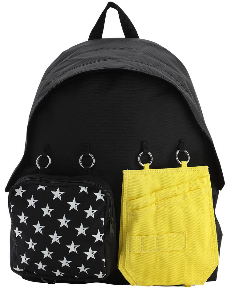 EASTPAK BY RAF SIMONS 30l Eastpak Rs Padded Doubl'r Backpack in black / yellow