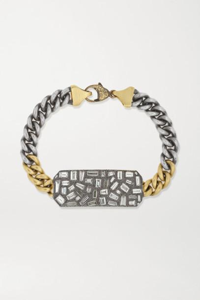 Sylva & Cie - Ten Table 18-karat Gold And Sterling Silver Diamond Bracelet