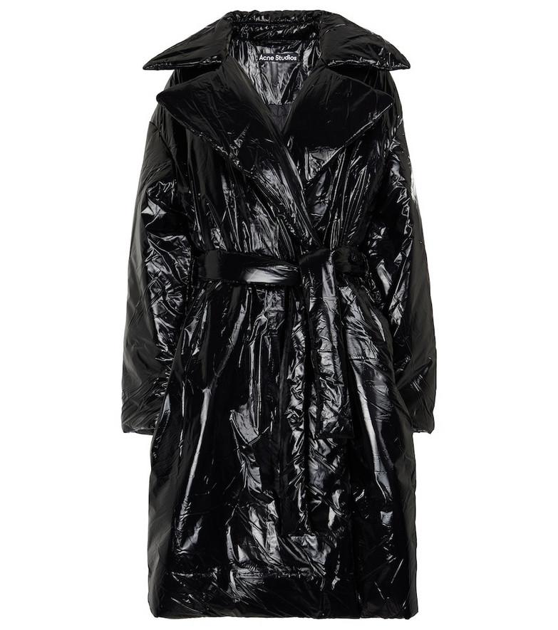 Acne Studios Nylon puffer coat in black