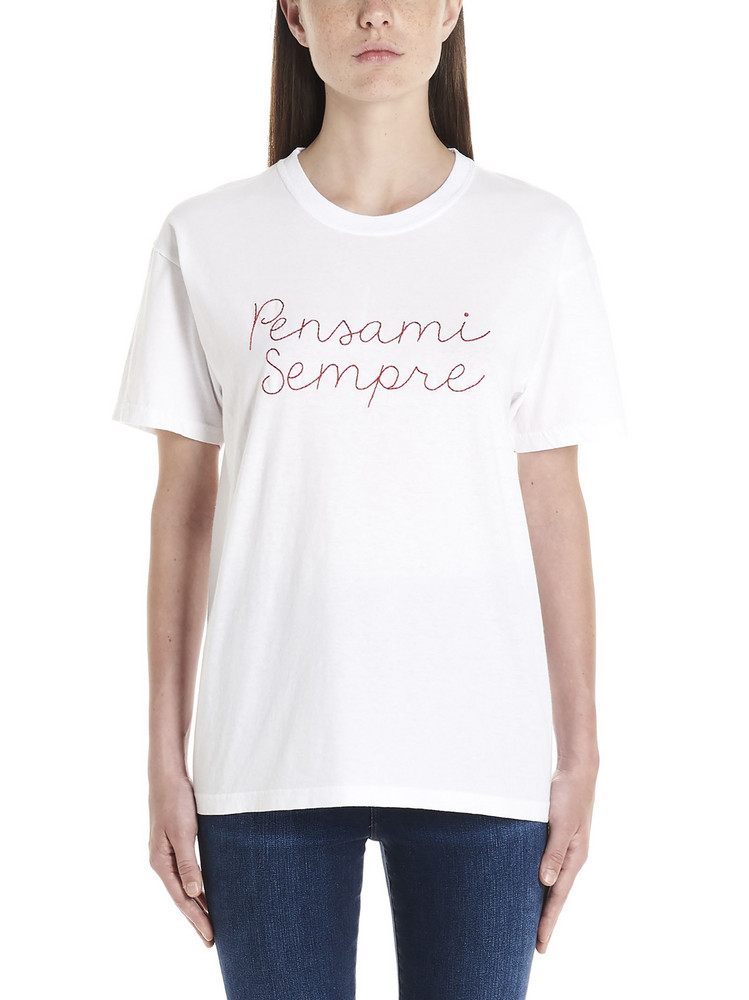 Giada Benincasa 'pensami Sempre' T-shirt in white