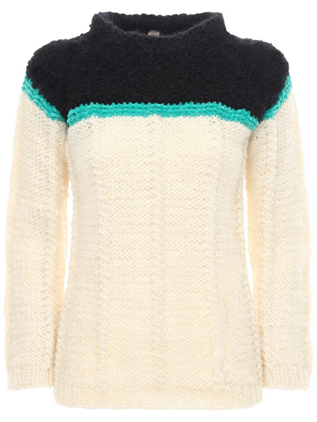 GUDRUN & GUDRUN Serpient Wool & Alpaca Sweater in black / white