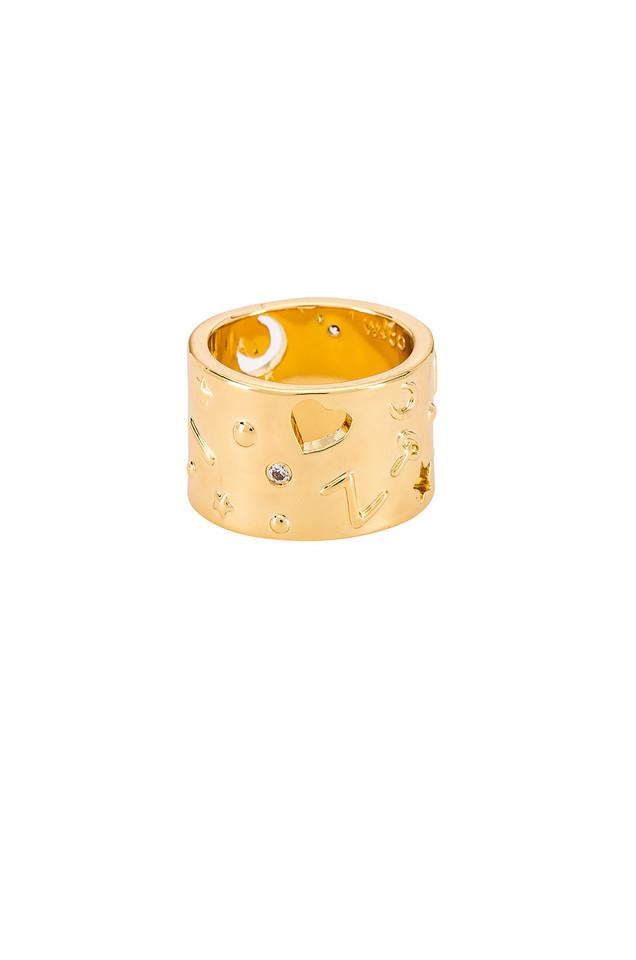 Wanderlust + Co Aleya Ring in gold / metallic