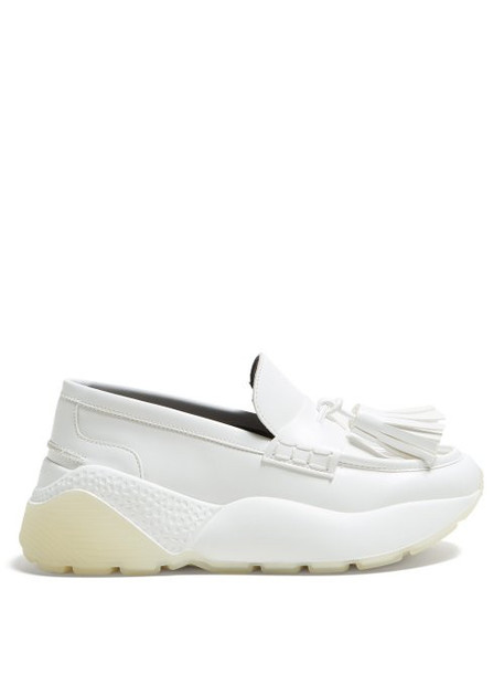 Stella Mccartney - Faux Leather Flatform Loafers - Womens - White